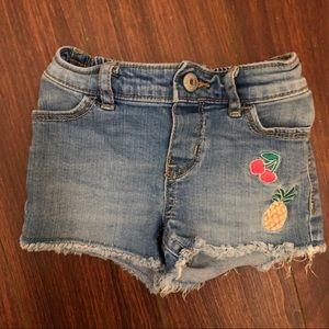 OshKosh denim cutoff shorts size 12-18m